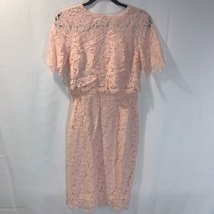 ASOS NWT Pink Lace dress size 6
